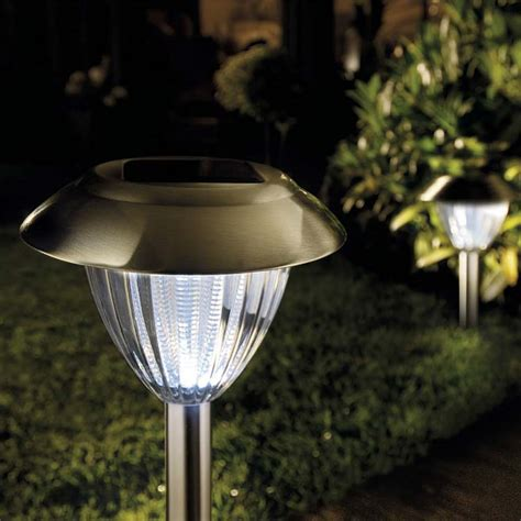 solar ultra bright stainless steel border lights 2
