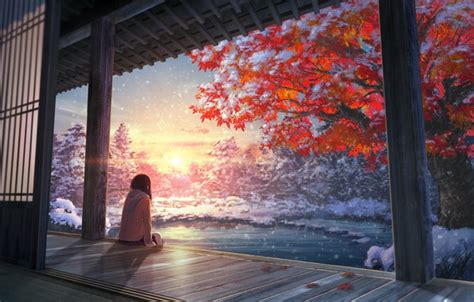 Autumn Anime Wallpaper - wallpaper autumn tree anime images for