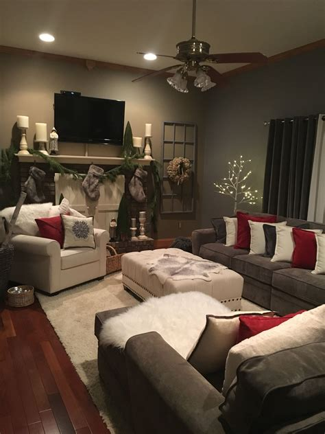 Capitalize on a white setting by decking the tree with cottony faux snow. Christmas decorating for living room | Living room colors ...