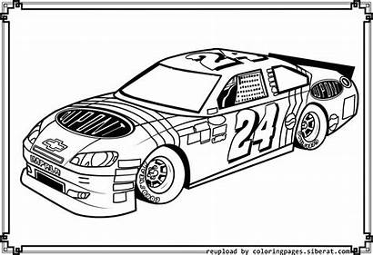 Coloring Nascar Pages Jeff Gordon Race Printable