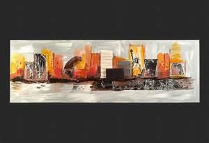 Tableau Peinture Moderne : tableau moderne sur new york ~ Teatrodelosmanantiales.com Idées de Décoration