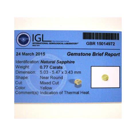 batu permata yellow sapphire 0 77 carat cut