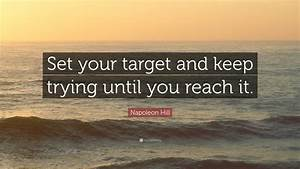 Napoleon Hill Q... New Targets Quotes