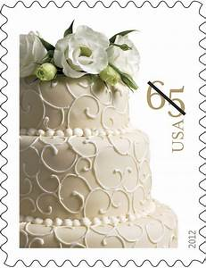 New wedding cake stamp is now available bridalguide for Wedding invite stamps usps