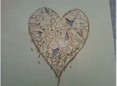 The Shattered Heart Drawing by Kailey Garner