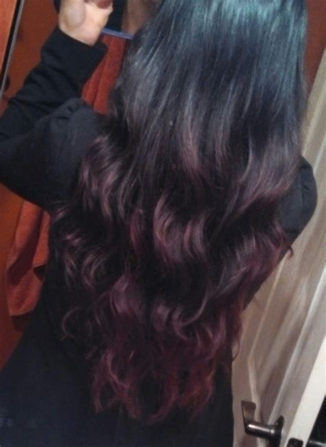 Red And Black Ombre Hair Hair Ideas Pinterest