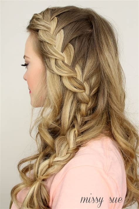 half up side french braid hairstyles long hair styles