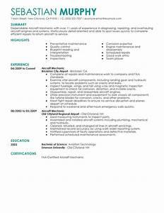 unforgettable aircraft mechanic resume examples to stand With aircraft mechanic resume template