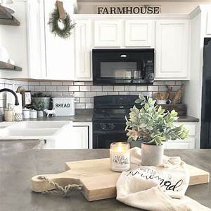 17 best ideas about white farmhouse kitchens on pinterest With kitchen colors with white cabinets with driftwood heart wall art