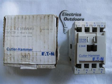 cutler hammer 20 contactor four pole 2 2kw coil voltage 24v 50 hz ce15an4u 4 cutler hammer