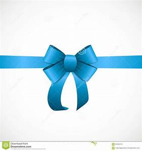 Gift Card With Blue Ribbon And Bow. Vector Stock Vector ...