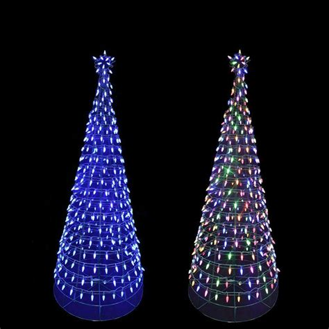 multi color changing led christmas lights home accents holiday 6 ft pre lit led tree sculpture with