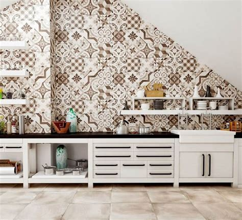 credence cuisine en carreaux de ciment crédence cuisine moderne pour un intérieur chic et original