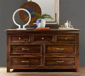bowry reclaimed wood extra wide dresser pottery barn With bowry bed pottery barn