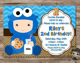 Cookie Invitation Template by 17 Best Images About Blaks Birthday On