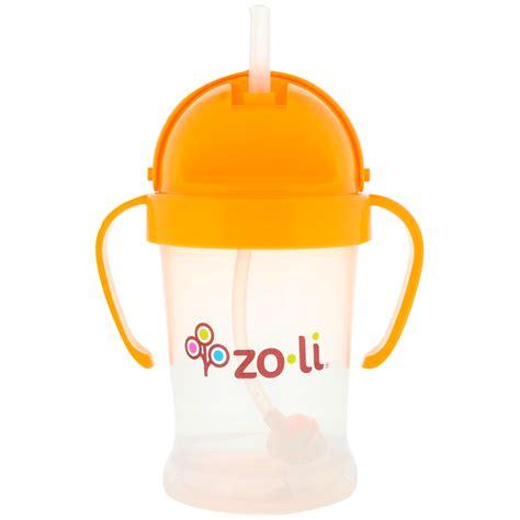 Zoli Straw Sippy Cup Bot 6oz zoli bot straw sippy cup orange 6 oz iherb