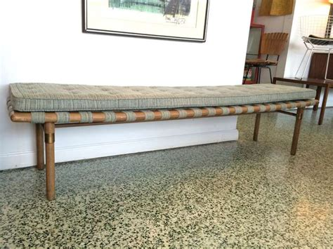 Low Narrow Bench by Widdicomb Style And Low Upholstered Bench At 1stdibs