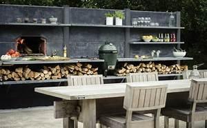 Cheminée Barbecue Exterieur : barbecue moderne et id es de cuisine ext rieure pour l 39 t ~ Preciouscoupons.com Idées de Décoration