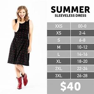 Lularoe Chart Summer Sleeveless Dress Lularoe Spring Collection