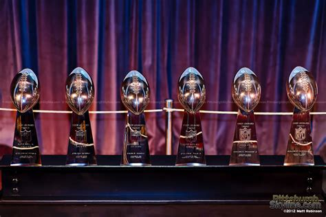 pittsburgh skyline  steelers superbowl trophies