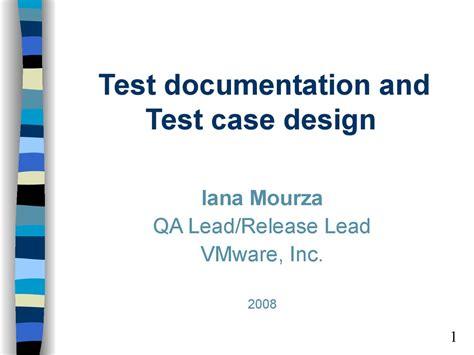 test documentation  test case design prezentatsiya onlayn