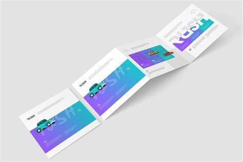 square  fold brochure mockups  images postcard