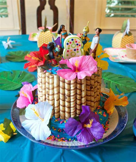 hawaiian party  lilo  stitch themed birthday
