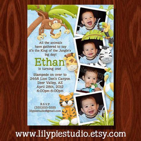 boys jungle themed birthday invitation printables