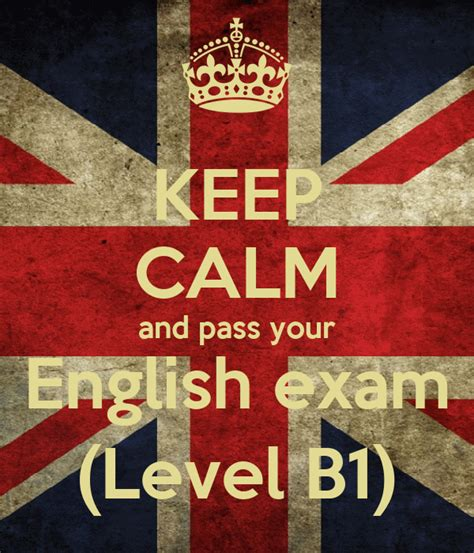 calm  pass  english exam level  poster