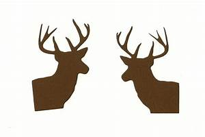 2 deer heads Buck Wildlife Silhouette die by ...