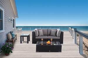 Rattanmöbel Garten Lounge : rattanm bel f r den garten rattan lounge bahira mit rundem rattan geflecht und extra komfort ~ Markanthonyermac.com Haus und Dekorationen