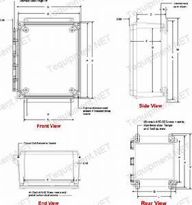 Hammond Pju1084hf N4x Solid Door Hinge Cover W  Flange