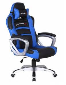 playmax gaming chair blue and black ebay