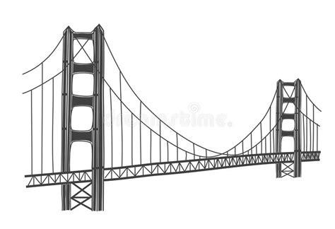 Illustration Of Golden Gate Bridge, San Francisco Stock ...