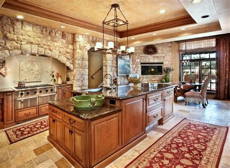 How To Make The Kitchen From Stone More Cheerful  Kitchen