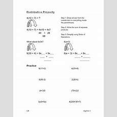 Distributive Property Worksheet  Prealgebra, Algebra 1 By Math With Ms Miller