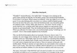 Describe A Local Park GCSE English Marked By Nature VS Nurture Issues Perspectives And Debates In Nature Descriptive Essay Essay Nature Essay Writing Nature Essay On Human Nature