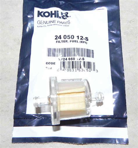 Kohler Fuel Filter by Kohler Fuel Filter Part No 24 050 12 S