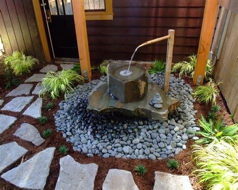 garden japanese zen asian landscape bamboo fountain water gardens fountains feature stones features steingarten anlegen outdoor oriental yard landscaping simple