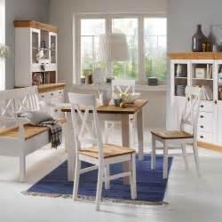 esszimmer landhausstil weißes esszimmer highboard sibiuta in weiß wohnen de