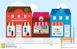 Shopping Mall stock vector. Image of facade, bookstore ...