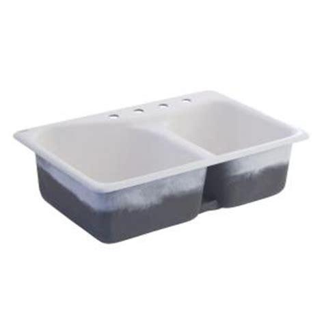 american standard cast iron kitchen sinks american standard offset top mount cast iron 33x22x9 75 4 9014