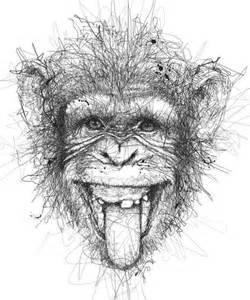 рисунки с обезьяной на дереве