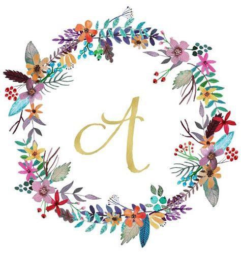 printable monogram art  printable monogram floral letters monogram