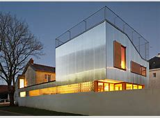 Cool French House with Corrugated Aluminium Facade and