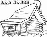 Coloring Log Cabin Pages Printable Jawar Colorings Building sketch template