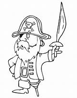 Pirate Pirates Coloring Coloriage Des Sword Imprimer Pages Leg Caraibes Omalovanky Dessin Vytisknuti Wooden Printactivities Drawing Colorier Dessins Printable Captain sketch template