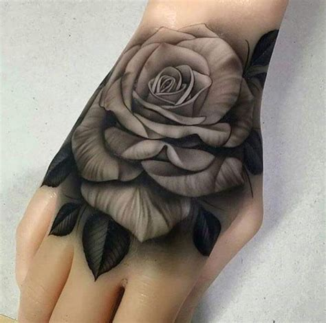 The 25+ Best Rose Hand Tattoo Ideas On Pinterest Rose