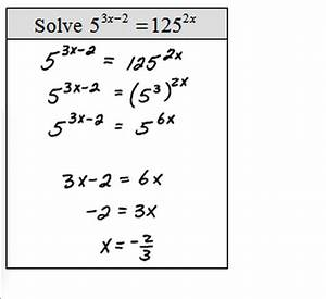 Exponential Functions Equations – Match Problems