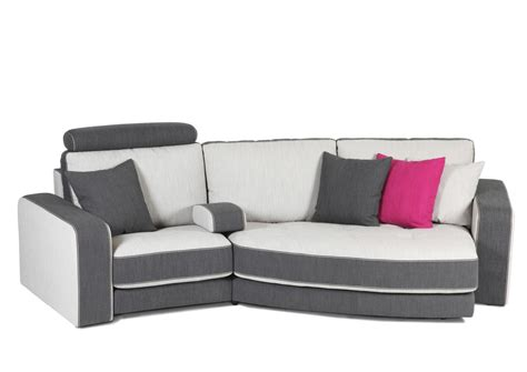 acheter canape acheter votre canapé contemporain bicolore gris et blanc